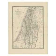 Antique Map of Palestine by Lapie, 1842