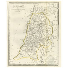 Antique Map of Palestine by Symes, 1800