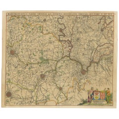 Antique Map of Part of Flanders 'Belgium' by F. de Wit 'circa 1680'