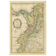 Antique Map of Part of South America by Kitchin, circa 1770