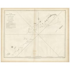 Antique Map of Part of the Korean Archipelago by La Perouse, 1798
