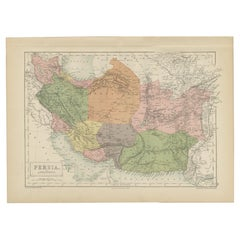 Antique Map of Persia and Afghanistan by A & C. Black, 1870