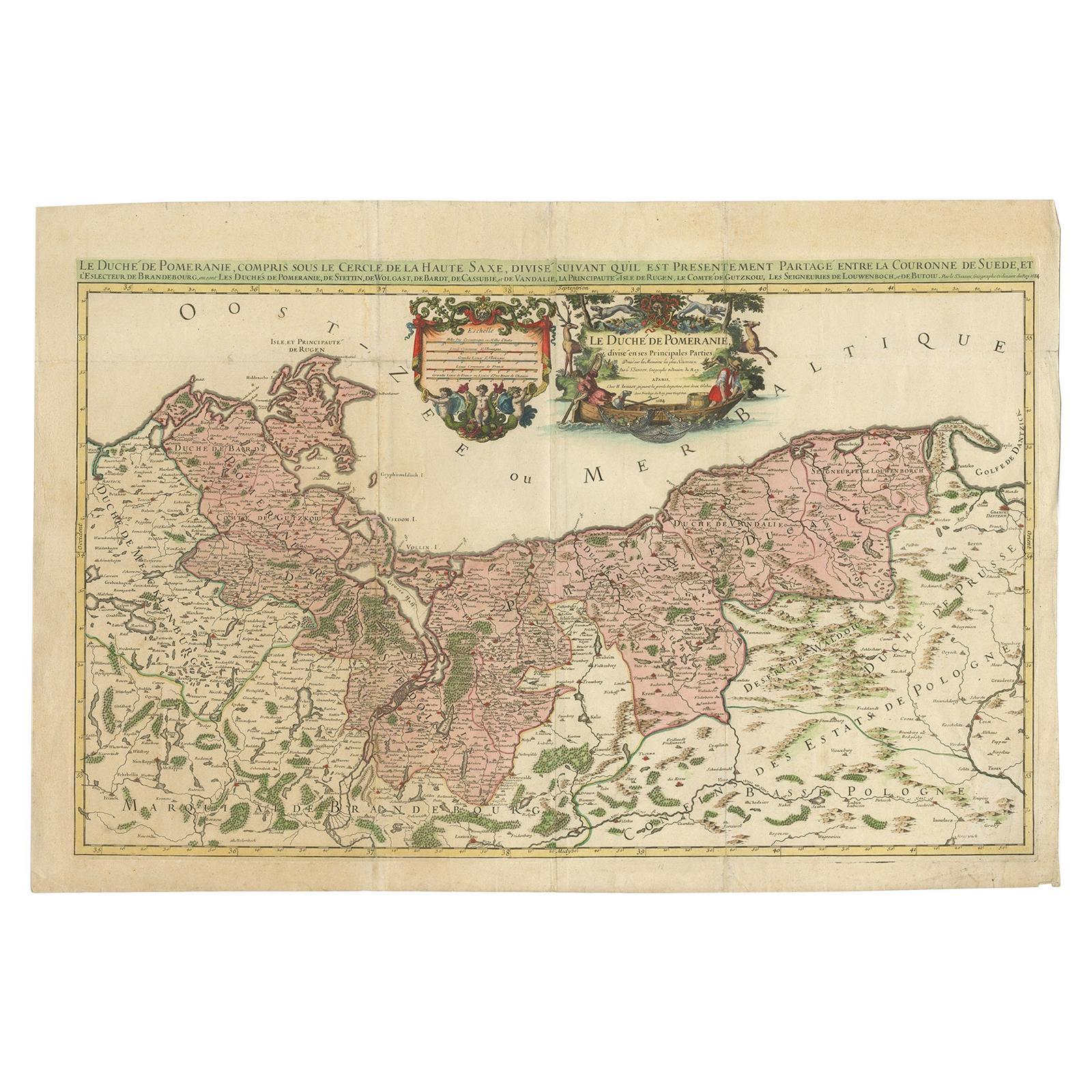 Antique Map of Pomerania by Sanson '1684'