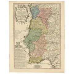 Antique Map of Portugal by Nolin '1704'