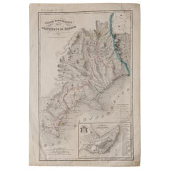 Antique Map of Principality of Monaco