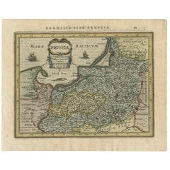 Antique Map of Prussia by Janssonius, 1628
