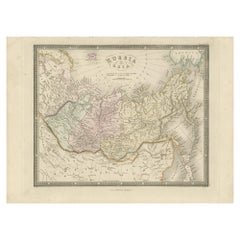 Antique Map of Russia in Asia by Wyld, '1845'
