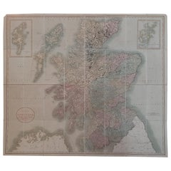 Antique Map of Scotland by Cary, '1811'