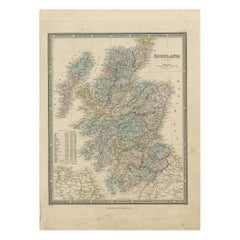 Antique Map of Scotland by Wyld, '1845'