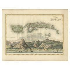 Antique Map of Seram, Boero and the Banda Islands by Van den Bosch '1818'