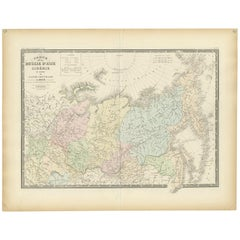 Antique Map of Siberia by Levasseur '1875'