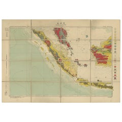 Antique Map of Singapore, 1932