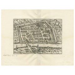 Antique Map of Solothurn 'Switzerland' by M. Merian, circa 1650