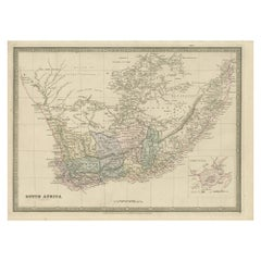 Antique Map of South Africa by Wyld '1845'