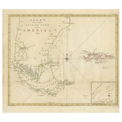 Antique Map of South America by J. Cook, 1775