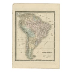 Antique Map of South America by Wyld, '1845'