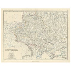 Antique Map of South-West Russia by A.K. Johnston, 1865