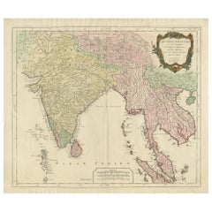 Antique Map of Southeast Asia by Santini, '1779'