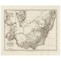 Antique Map of Southeastern Australia by F. von Stülpnagel, 1850