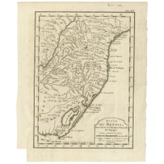 Antique Map of Southern Brazil by Bellin, circa 1750