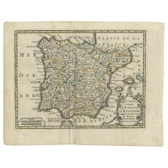 Antique Map of Spain and Portugal by Keizer & de Lat, 1788