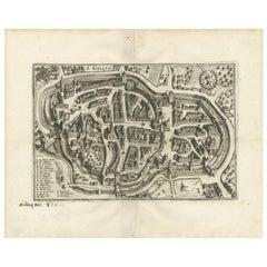 Antique Map of St. Gallen 'Switzerland' by M. Merian, circa 1650
