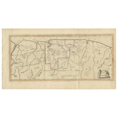 Antique Map of Surinam by Stedman '1813'