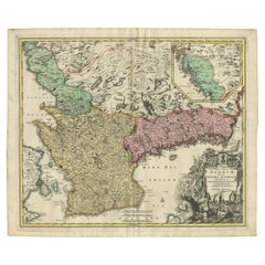 Antique Map of Sweden by Homann, 'circa 1730'