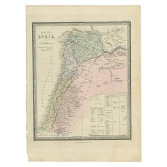 Antique Map of Syria by Wyld '1845'