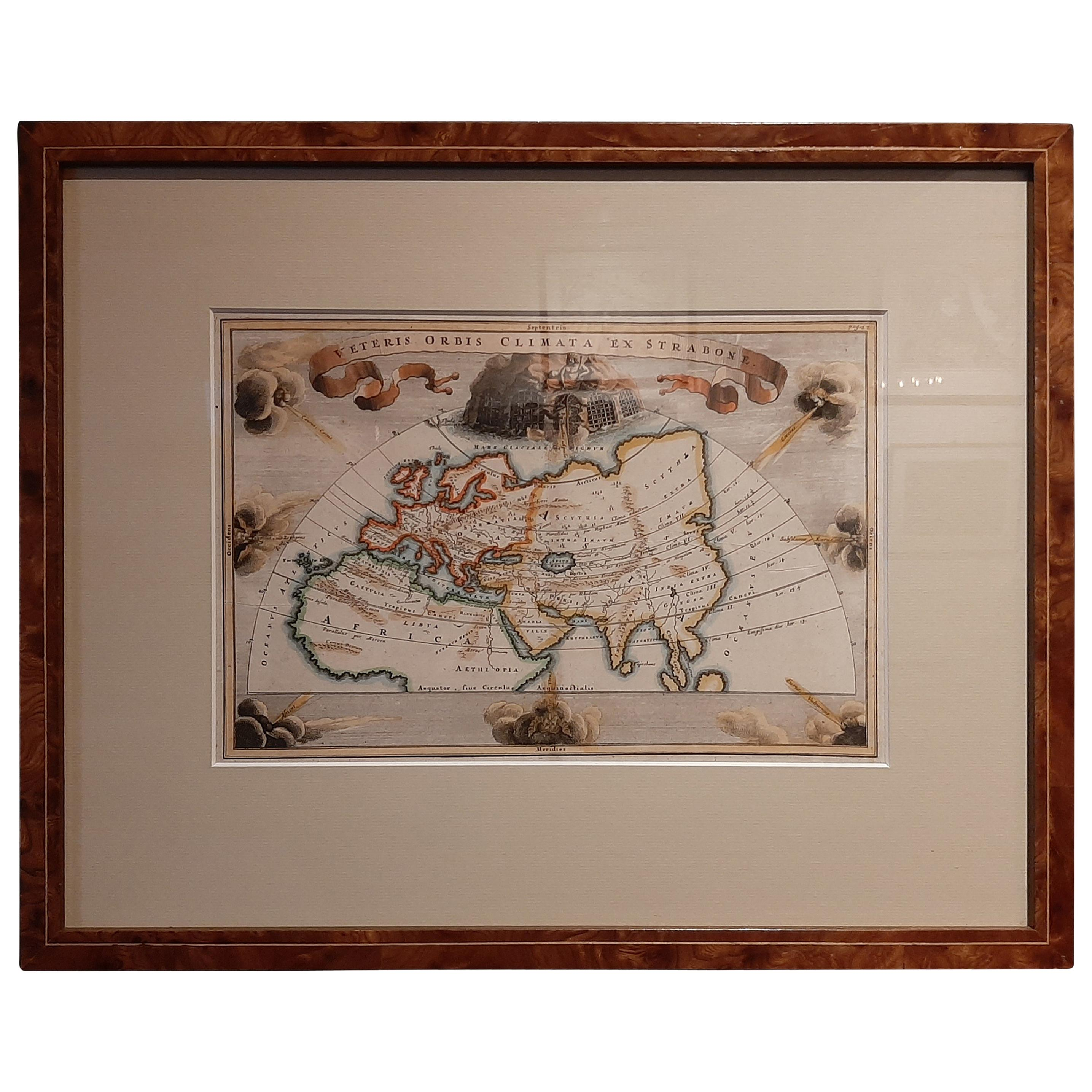 Antique Map of the Ancient World by Cellarius, 1703