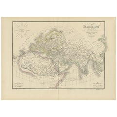 Antique Map of the Ancient World by Lapie, 1842