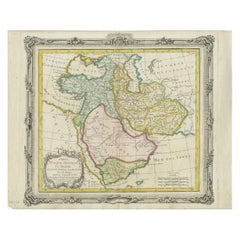 Antique Map of the Arabian Peninsula and Persia by Brion de la Tour '1766'