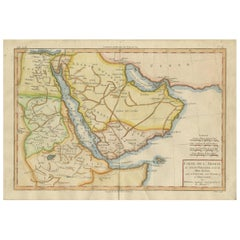 Antique Map of the Arabian Peninsula by Bonne 'c.1780'