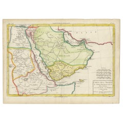 Antique Map of the Arabian Peninsula by Bonne 'c.1780'