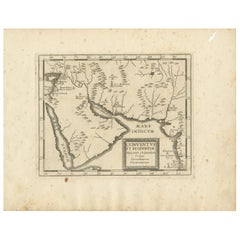 Antique Map of the Arabian Peninsula by Franceschini, '1739'