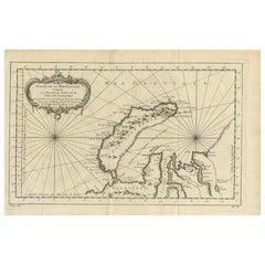 Antique Map of the Arctic Ocean and Novaya Zemlya by Bellin '1759'