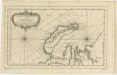 Antique Map of the Arctic Ocean and Novaya Zemlya by Bellin (1759)