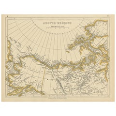 Antique Map of the Arctic Regions by Lowry '1852'