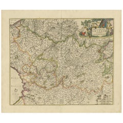 Antique Map of the Artois Region 'France' by F. de Wit, circa 1680