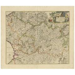 Antique Map of the Artois Region 'France' by F. de Wit, circa 1680