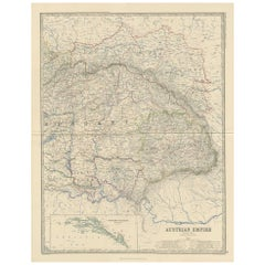Antique Map of the Austrian Empire by A.K. Johnston, 1865