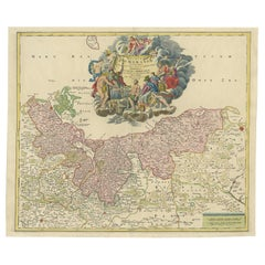 Antique Map of the Baltic Region by Homann 'circa 1710'