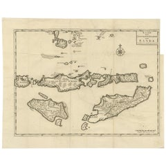 Antique Map of the Banda Islands by Valentijn, 1726