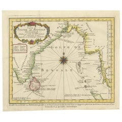 Antique Map of the Bay of Bengal by Van Schley '1747'
