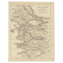Antique Map of the Bosporus and Dardanelles by Lowry '1852'