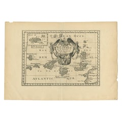 Antique Map of the Canary Islands by Sanson, 'circa 1705'