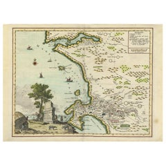 Antique Map of the Cape of Good Hope 'Africa' by Albrizzi '1740'