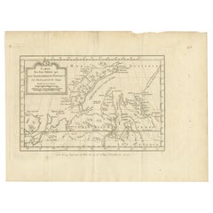 Antique Map of the Country Inhabited by the Samoyedic and Khanty People '1768'