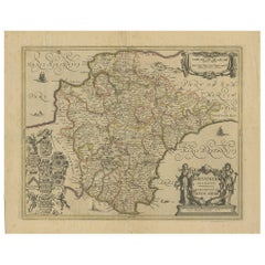 Antique Map of the County of Devon by Overton, 1713