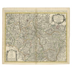 Antique Map of the Diocese of Toul by Covens & Mortier, circa 1720